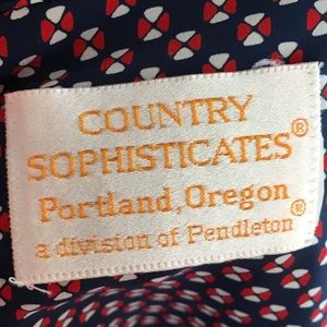 Pendleton Tops - Vintage Country Sophisticates by Pendleton Blouse